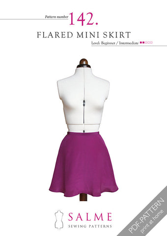 Pattern no 142 Flared mini skirt