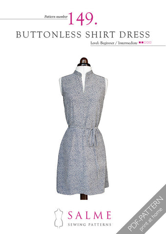 Pattern no 149 Buttonless shirt dress