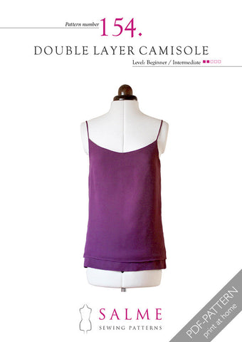 Pattern no 154 Double layer camisole
