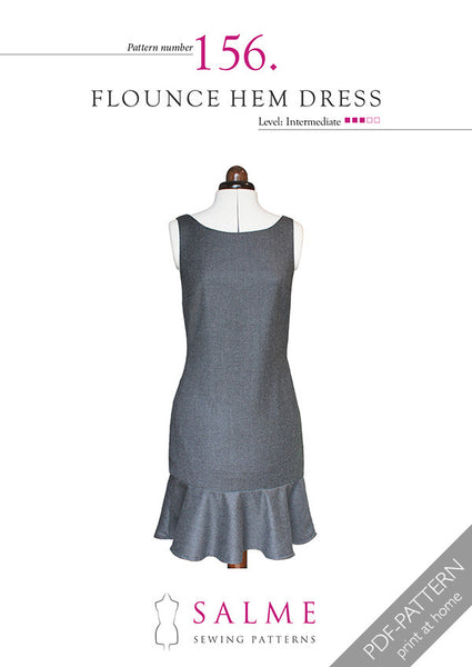 Digital Sewing Pattern - Flounce Hem Dress