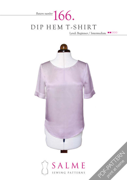 Digital Sewing Pattern - Dip Hem T-shirt