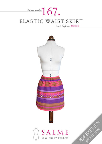 Pattern no 167 Elastic waist skirt