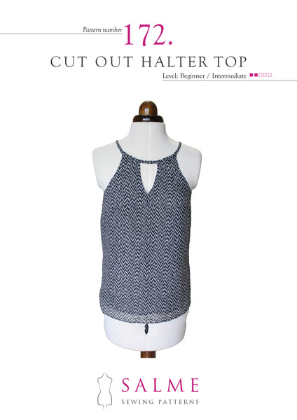Cut Out Halter Top Paper Pattern