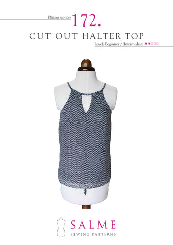 Paper pattern no 172 Cut out halter top
