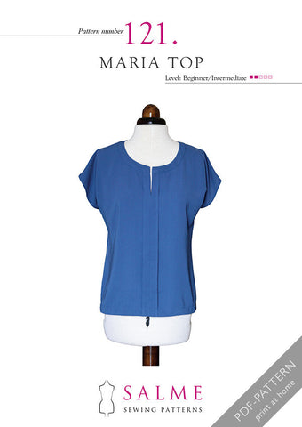 Salme Maria top sewing pattern