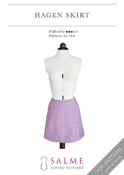 Hagen skirt digital sewing pattern