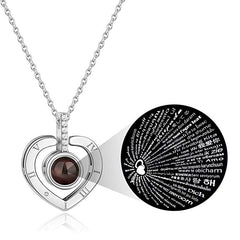 'I Love You' Heart Necklace in 100 Different Languages | 1onelove.com