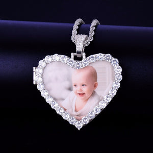 Custom Photo Heart Necklace & Pendant
