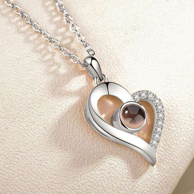 I Love You in 100 Languages Heart Necklace - 1onelove.com