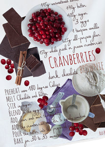 Cranberry Chocolate Brownies