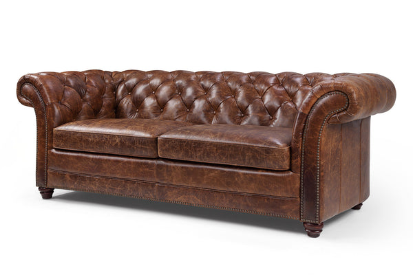 Canap chesterfield en cuir westminster rose moore - Canape anglais a fleurs ...