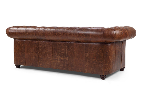 Dos du Canapé Chesterfield en Cuir Westminster Rose & Moore