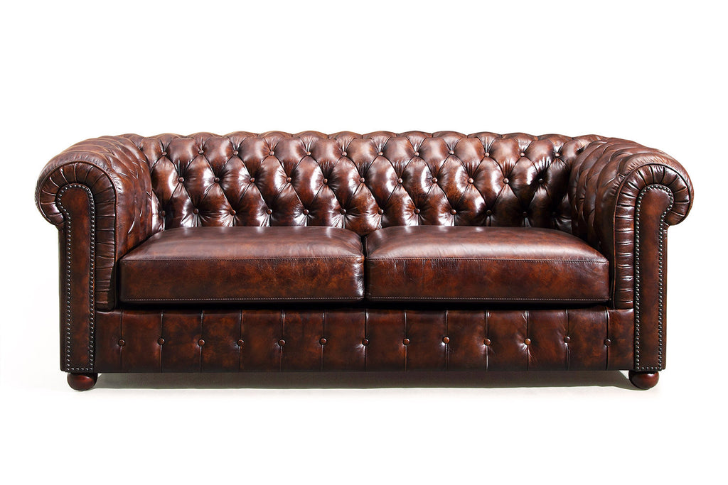 Canap chesterfield original rose moore - Canape chesterfield but ...