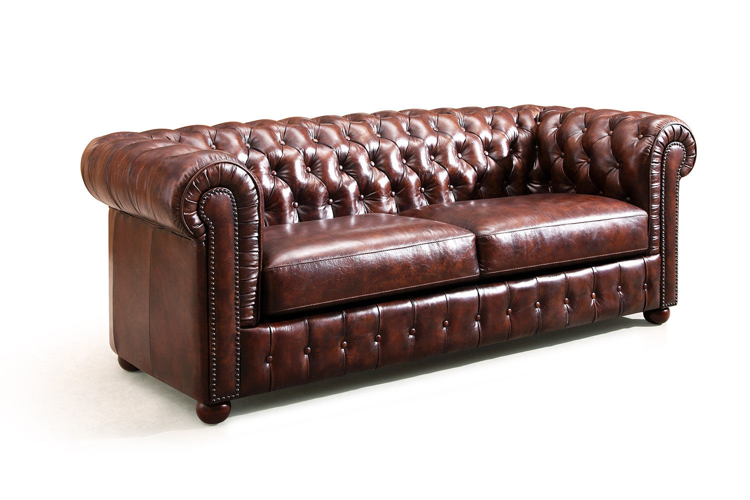 Canap chesterfield original rose moore - Canape chesterfield cuir ...