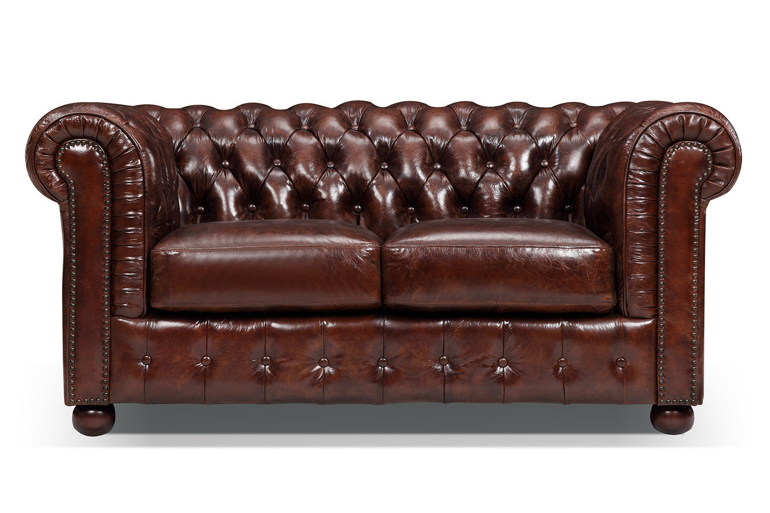 Canap chesterfield original 2 places rose moore for Canape chesterfield cuir
