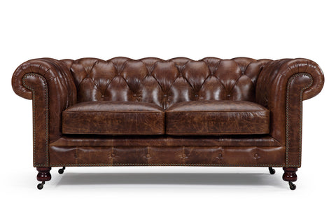 Fauteuils canap s chesterfield rose moore for Canape cuir style ancien