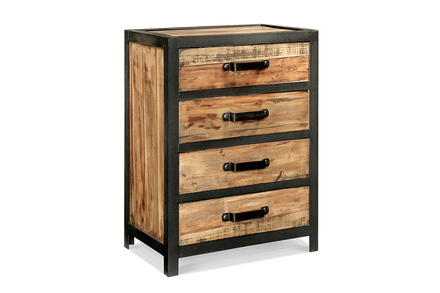 cabinet industriel 4 tiroirs ca01 rose moore. Black Bedroom Furniture Sets. Home Design Ideas