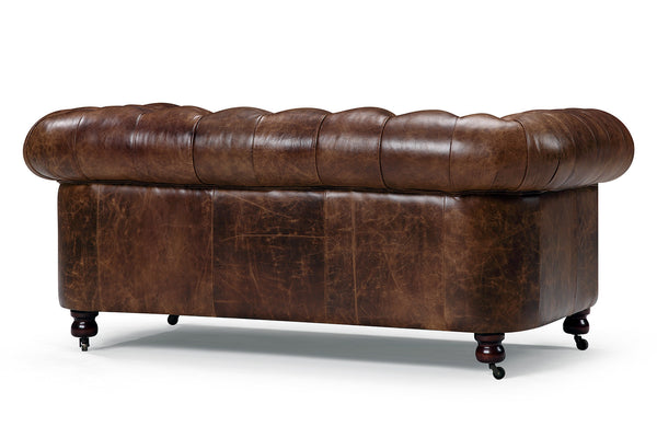 canap chesterfield en cuir kensington 2 places rose moore. Black Bedroom Furniture Sets. Home Design Ideas