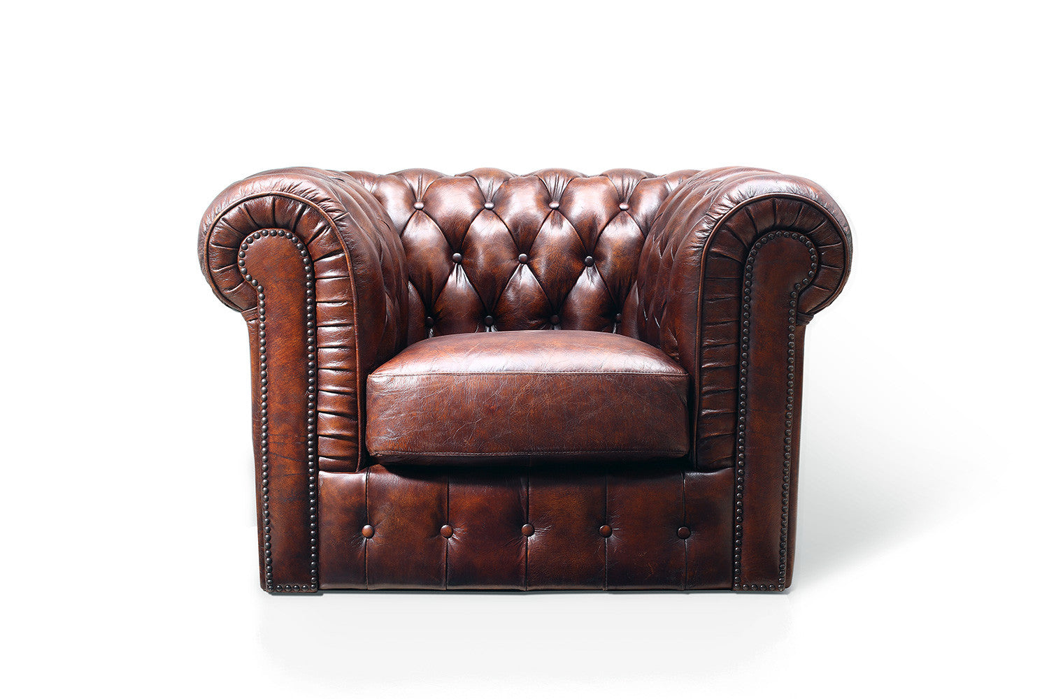 Fauteuil chesterfield original rose moore - Fauteuil chesterfield cuir marron ...