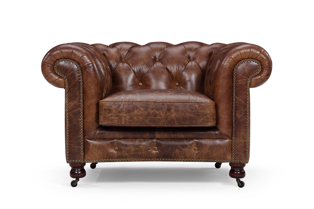 fauteuil chesterfield en cuir kensington rose moore. Black Bedroom Furniture Sets. Home Design Ideas