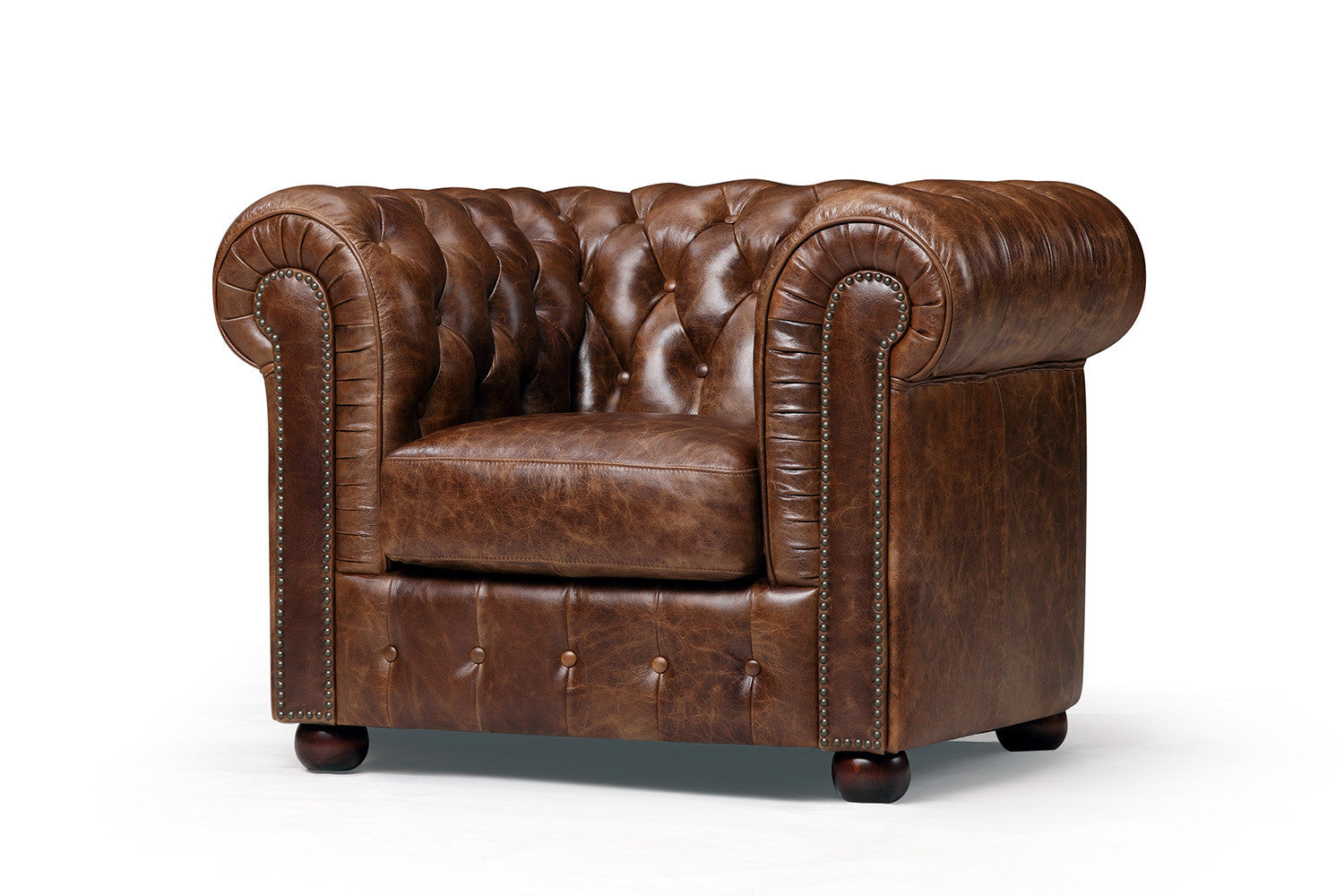 Fauteuil chesterfield original rose moore - Fauteuil chesterfield cuir occasion ...