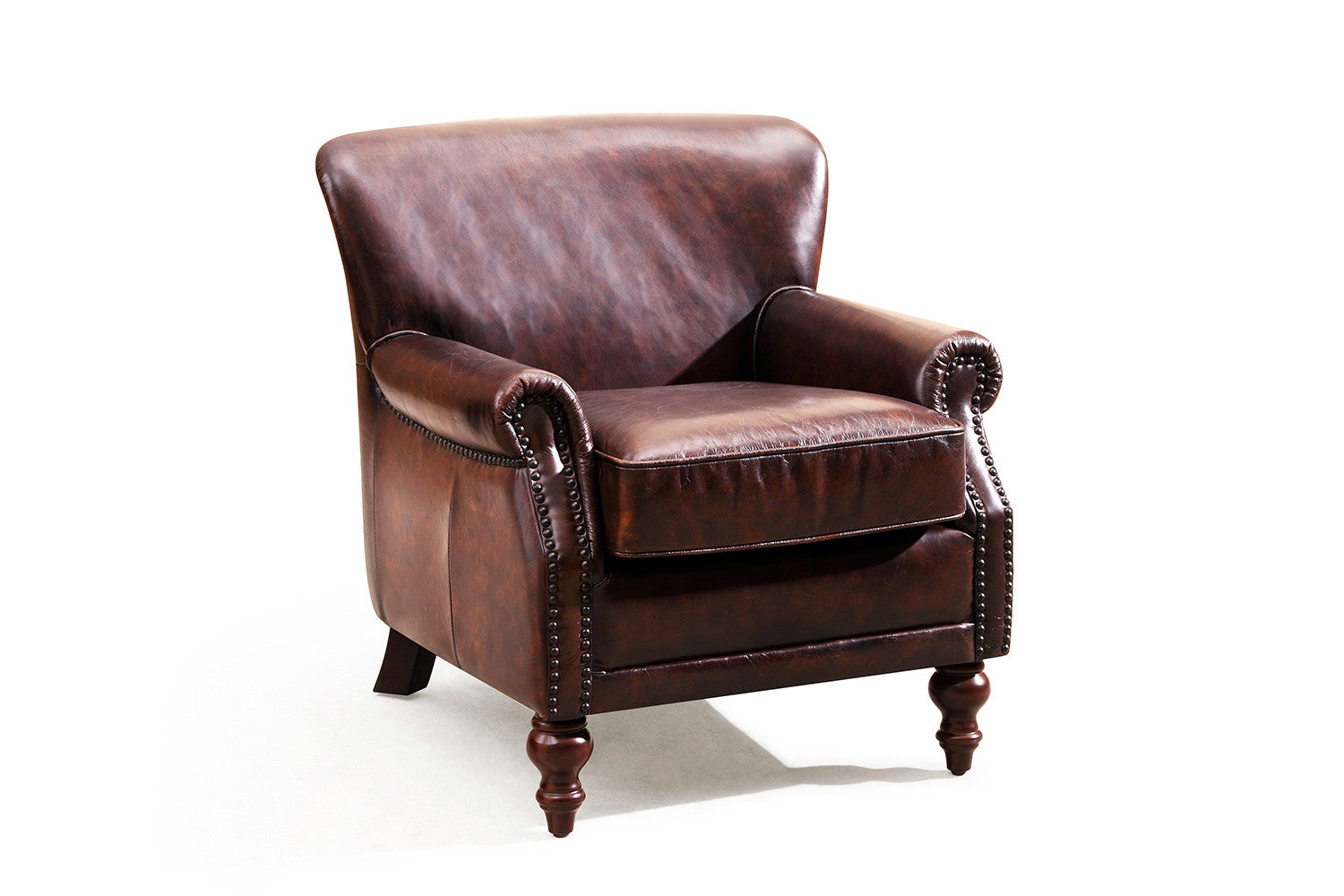 Fauteuil anglais cambridge en cuir rose moore for Salon cuir anglais