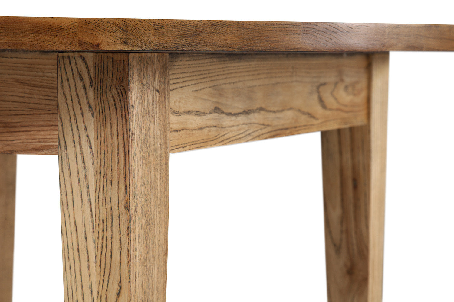 Table de Cuisine Cottage Ronde en Bois | Rose  - Pied De Table En Bois