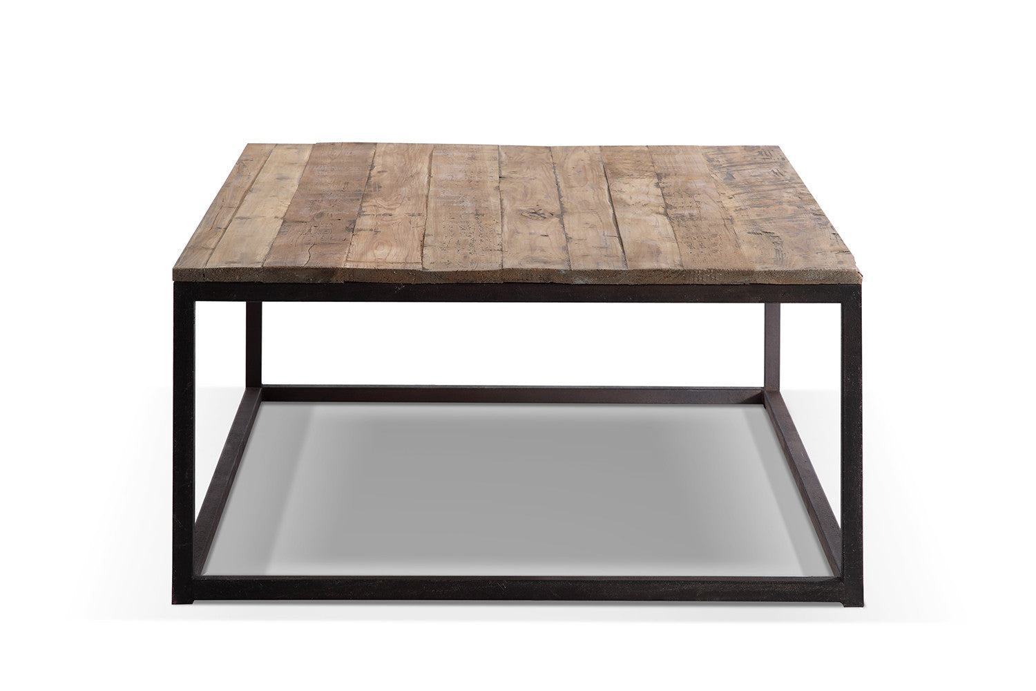 Table basse industrielle en m tal et bois tb02 rose - Table basse industrielle bois metal ...