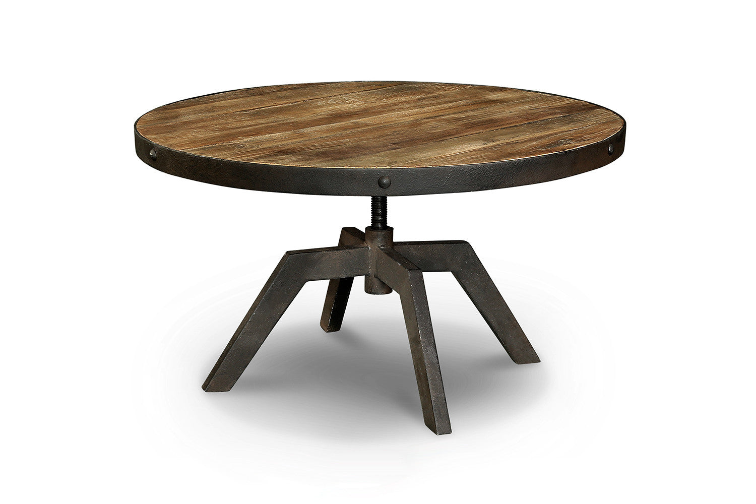 Table basse industrielle en bois et m tal tb03 rose moore - Table basse bois pied metal ...