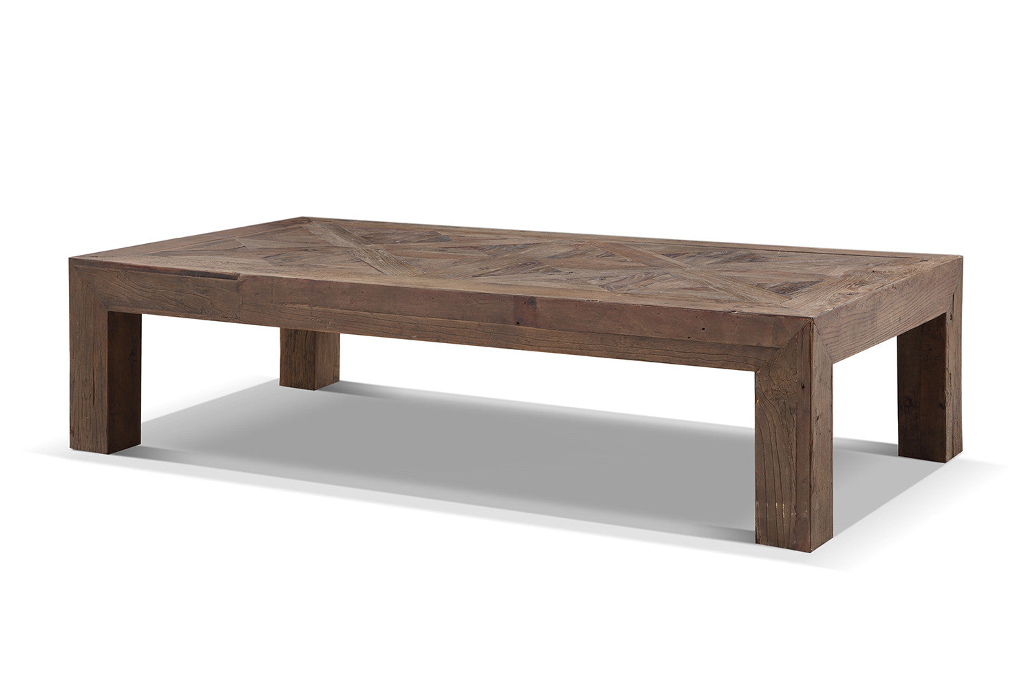 Table basse rustique en bois brut rose moore for Table salon bois brut