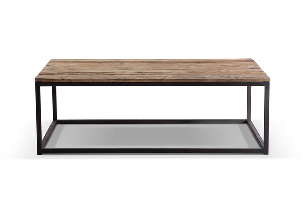 Table basse industrielle en m tal et bois tb02 rose - Table basse rose ...