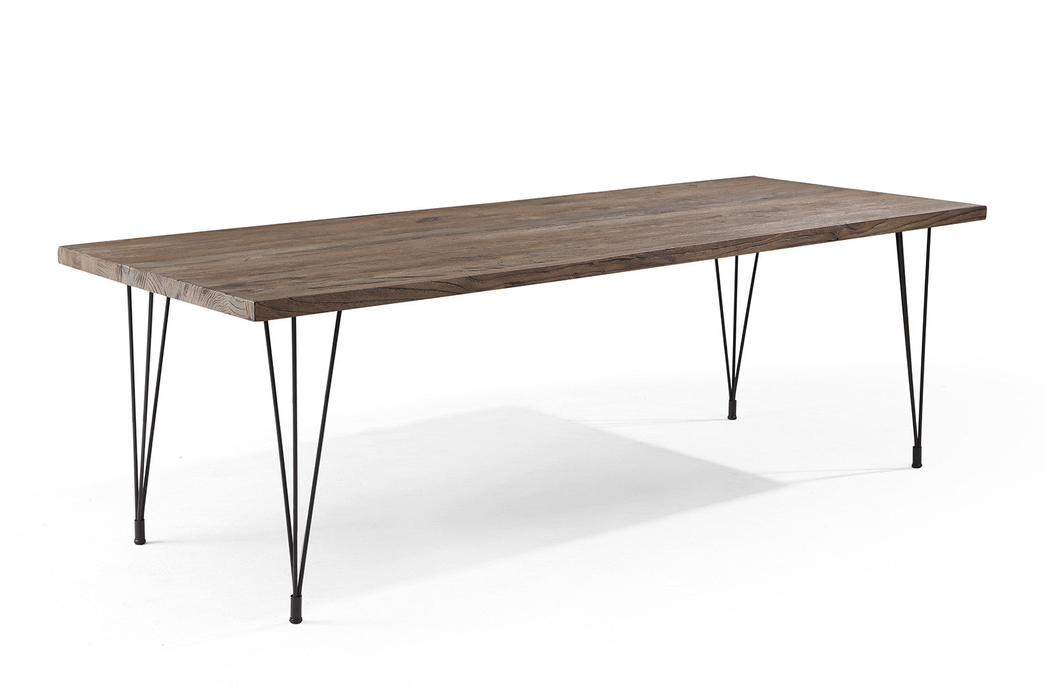 Table manger industrielle pieds en epingle tm02 rose moore for Grande table industrielle