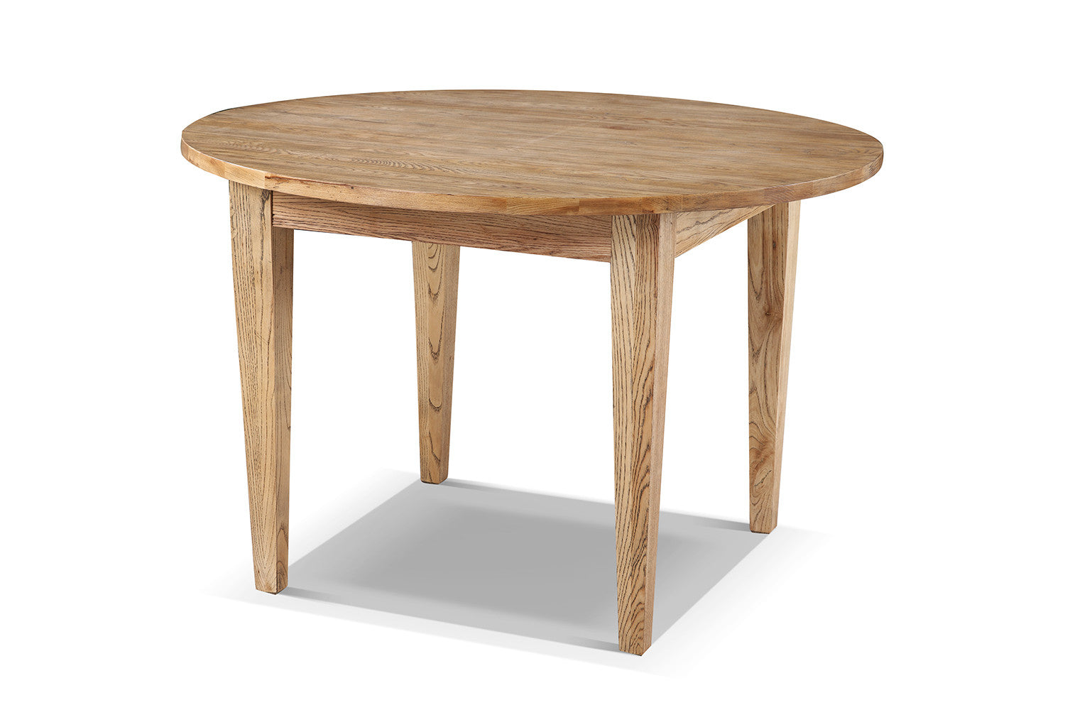 table de cuisine cottage ronde en bois rose moore
