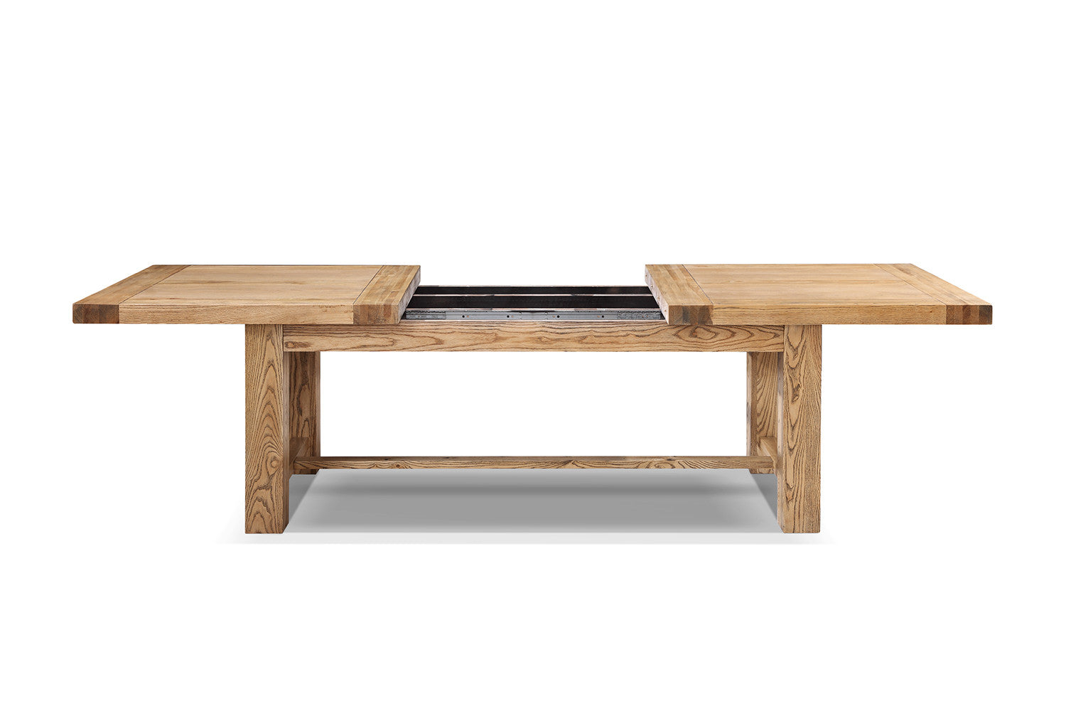 Table de salle manger etabli rallonges rose moore for Table rallonge bois