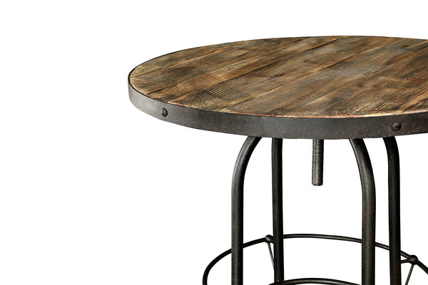 Table haute de bar industrielle tm03 rose moore for Table haute bois