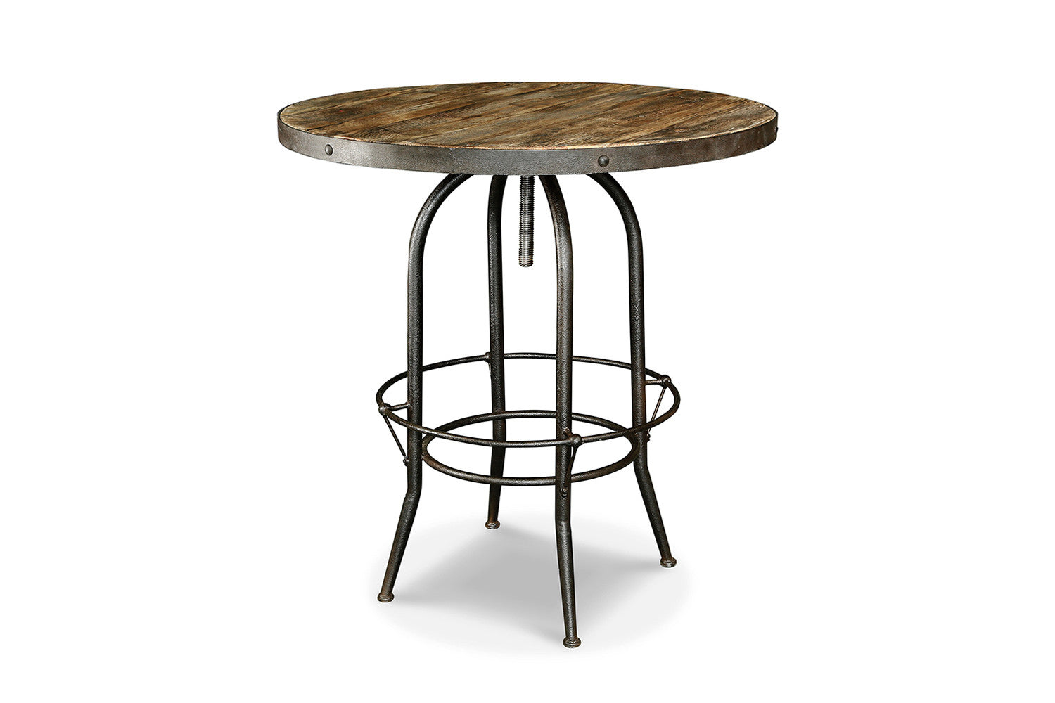 Table haute de bar industrielle tm03 rose moore for Table haute industrielle