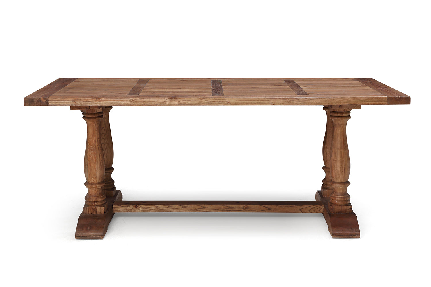 Table de salle manger en bois balustre rose moore for Table manger bois