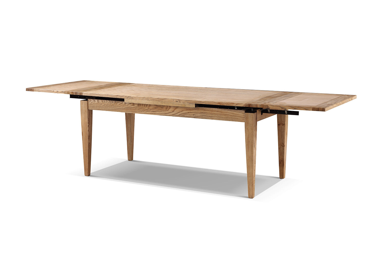 Table manger cottage en bois extensible rose moore for Table en bois salle a manger extensible