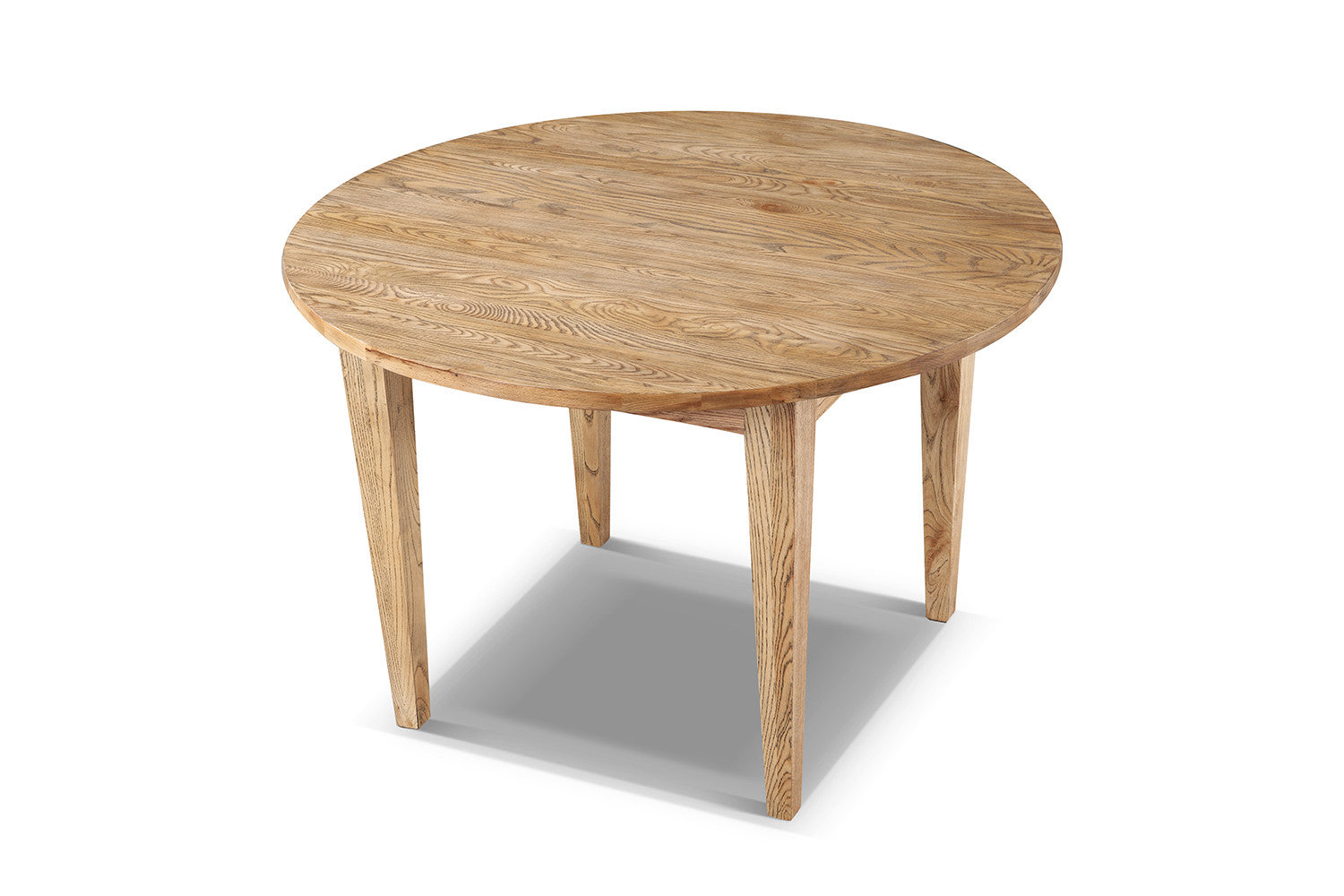 Table de cuisine cottage ronde en bois rose moore for Table a manger ronde bois