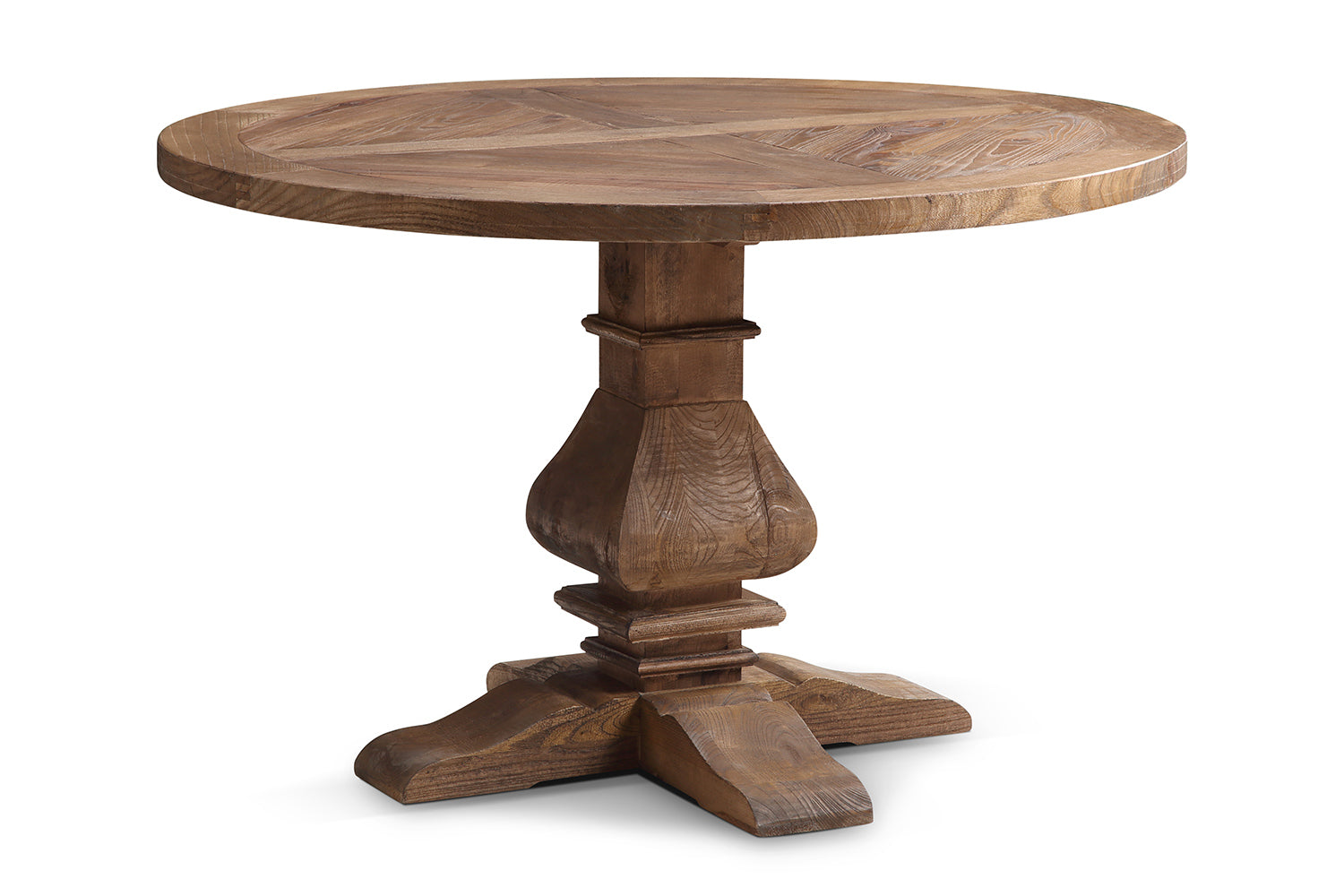 Table manger ronde en bois monast re rose moore for Table a manger ronde