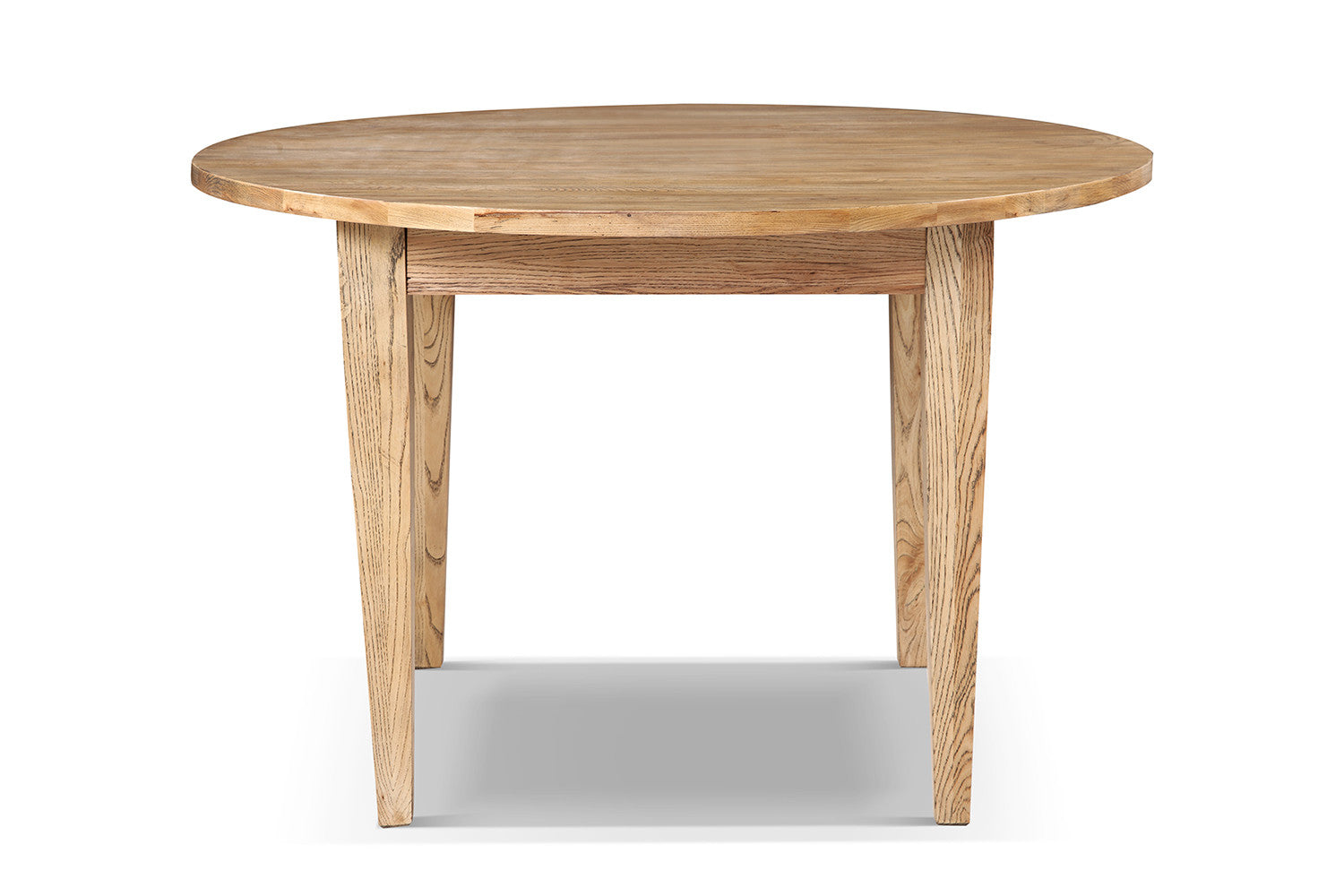 Table de cuisine cottage ronde en bois rose moore for Table cuisine en bois