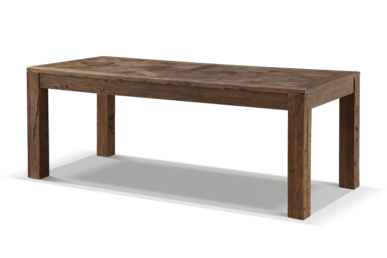 Table de salle manger rustique en bois brut rose moore Dimension table a manger