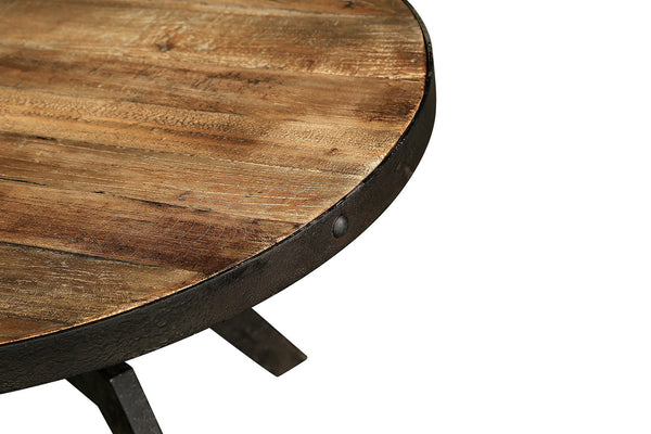 Table basse industrielle en bois et m tal tb03 rose moore - Table de salon bois et metal ...