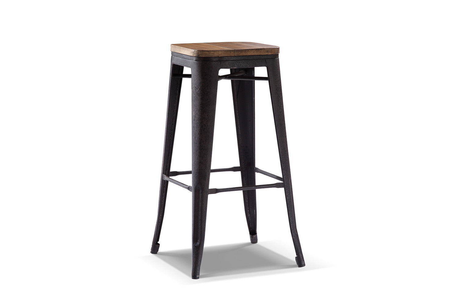 tabouret de bar bois et metal. Black Bedroom Furniture Sets. Home Design Ideas