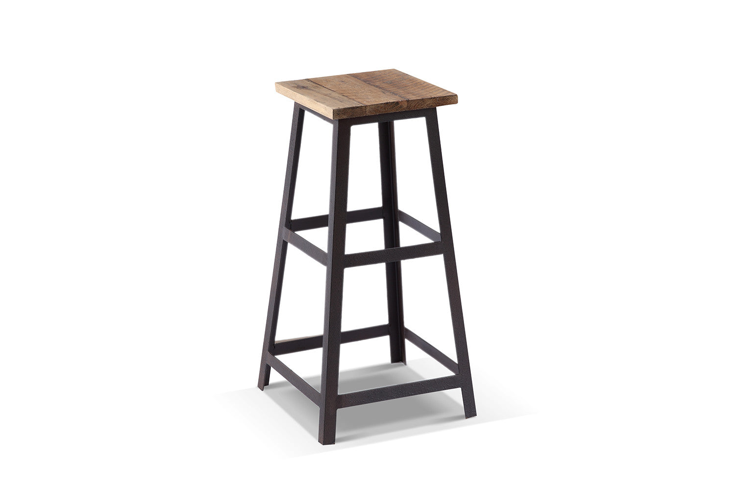tabouret de bar industriel carr ta02 rose moore. Black Bedroom Furniture Sets. Home Design Ideas