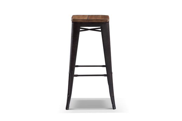 tabouret de bar en bois et m tal ta01 rose moore. Black Bedroom Furniture Sets. Home Design Ideas