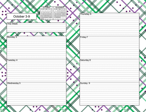 Daily, Weekly, and Monthly Planner Pages