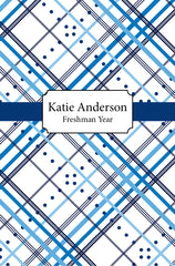 Blue Plaid Cover Custom Planner