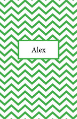 Green Chevron Cover Custom Planner