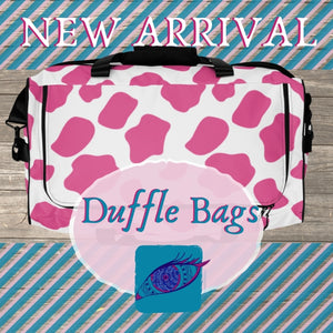 New Duffle Bags Available: Cow Prints!